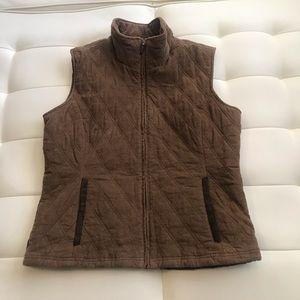 Pacific Trail Women Corduroy Vest Brown Sz Medium